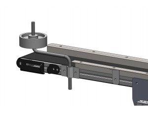roue-pivot-d150-avec-support-reglable